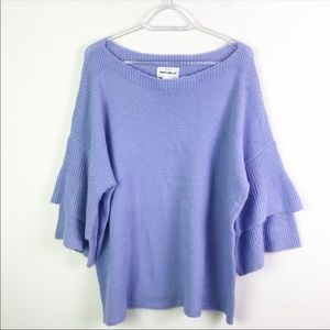 For The Republic Tiered Bell Sleeve Sweater